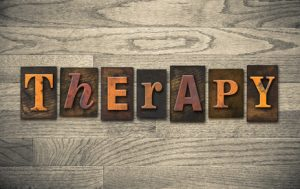 Therapy Wooden Letterpress Concept